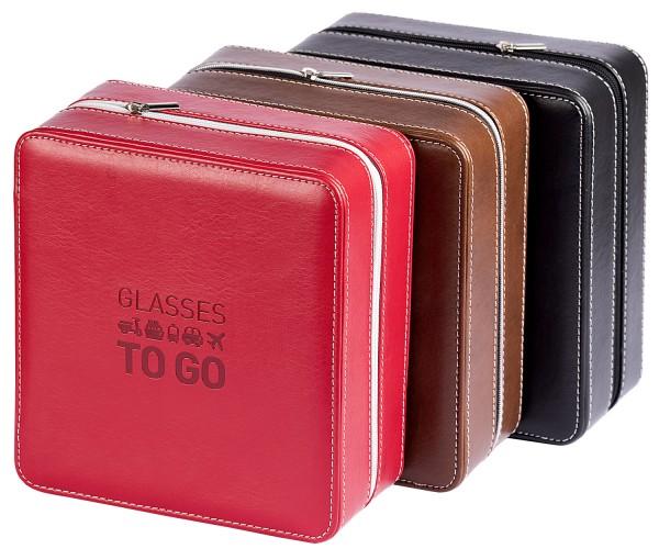 Reisebox mit Reißverschluss, Platz für sechs Brillen